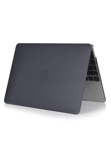 """Mcstorey MacBook Pro A1278 13.3"""" Kılıf Kapak Koruyucu Ruberized Hard Incase Mat Siyah"""